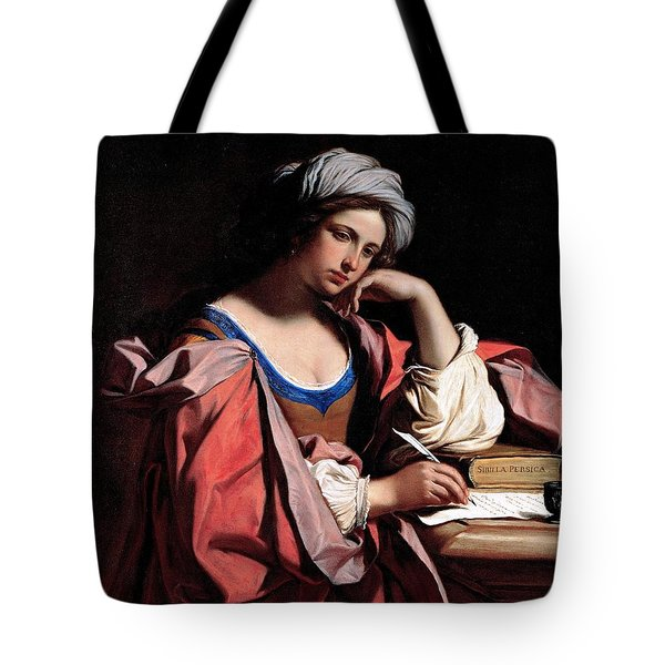 Tote Bag featuring the painting The Persian Sibyl by Pg Reproductions