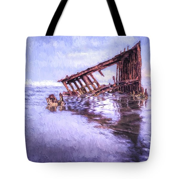 A Stormy Peter Iredale Tote Bag