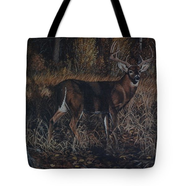 The Phantom Buck Tote Bag by Michael Wawrzyniec