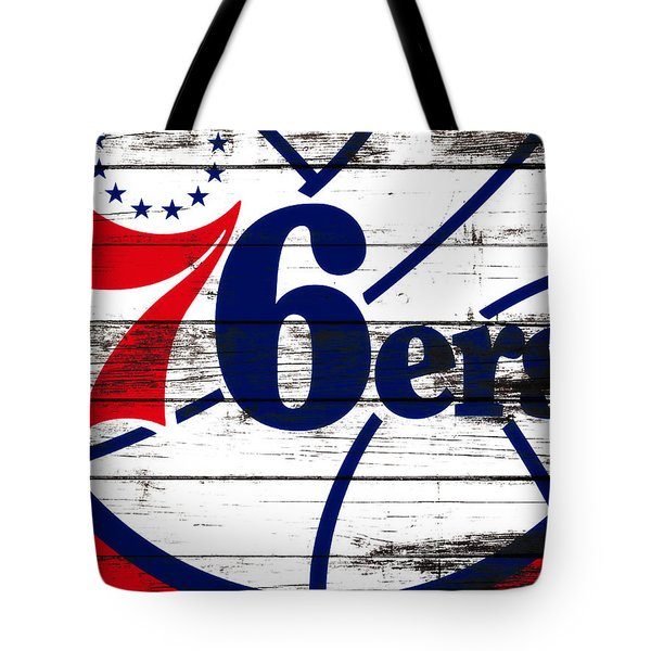 The Philadelphia 76ers 3e       Tote Bag by Brian Reaves