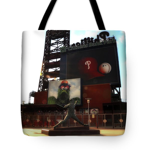 The Phillies - Steve Carlton Tote Bag by Bill Cannon