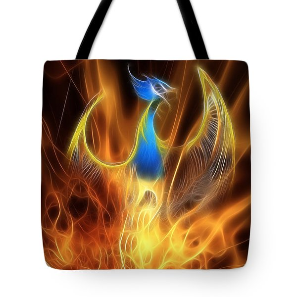 The Phoenix Rises From The Ashes Tote Bag