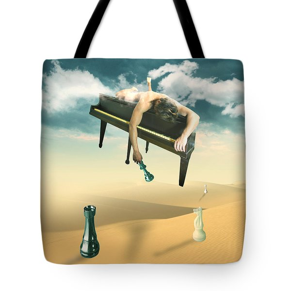 The Pianist  Tote Bag by Mark Ashkenazi
