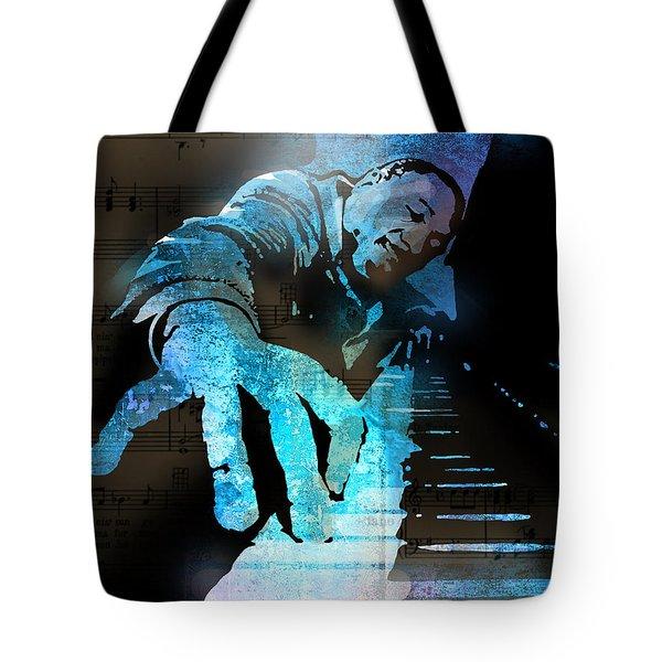 The Piano Man Tote Bag by Paul Sachtleben
