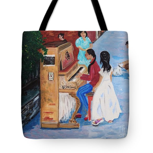The Piano Player Tote Bag