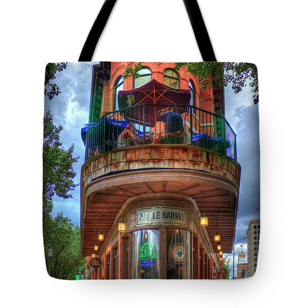 Tote Bag featuring the photograph The Pickle Barrel Chattanooga Tn Art by Reid Callaway