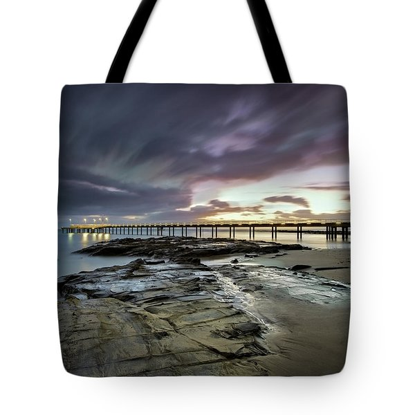 The Pier @ Lorne Tote Bag by Mark Lucey