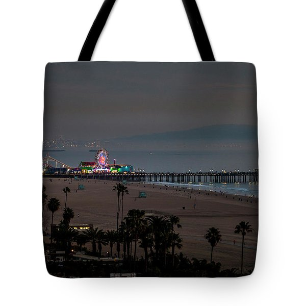 The Pier After Dark Tote Bag