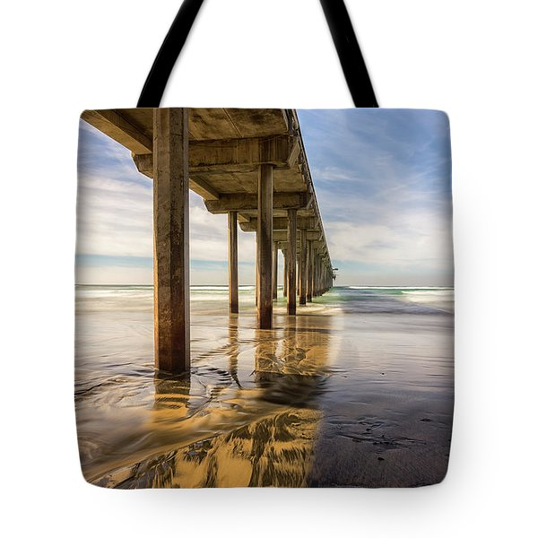 The Pier And Its Shadow Tote Bag