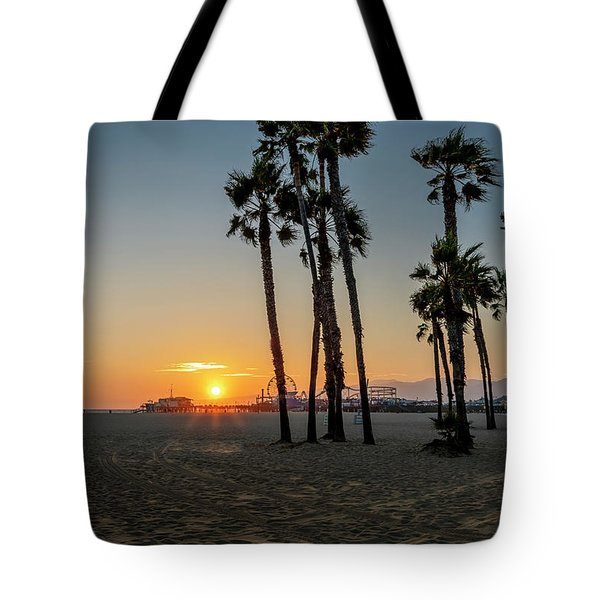 The Pier At Sunset Tote Bag