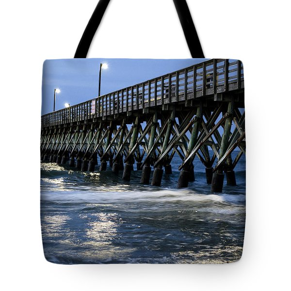 The Pier At The Break Of Dawn Tote Bag