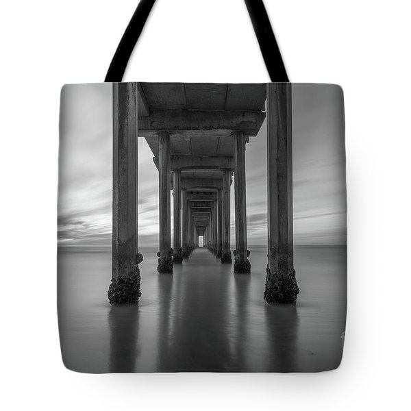 The Pier  Bw Tote Bag