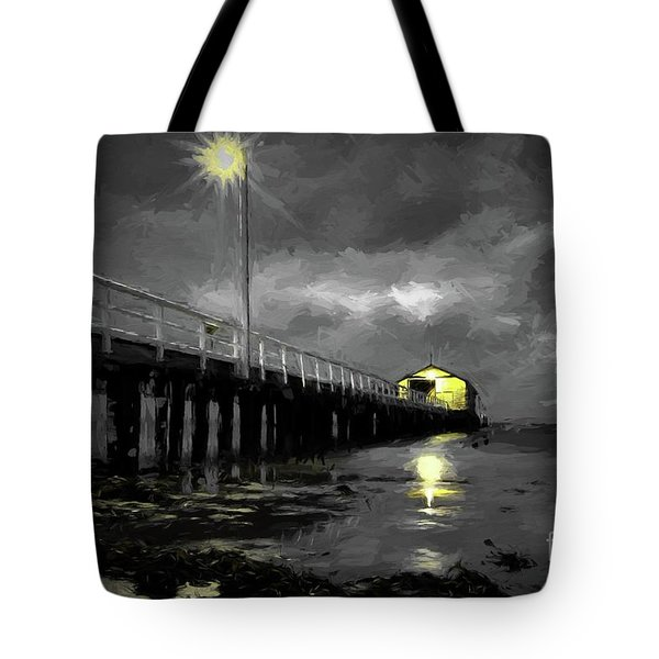 The Pier On The Bay Tote Bag