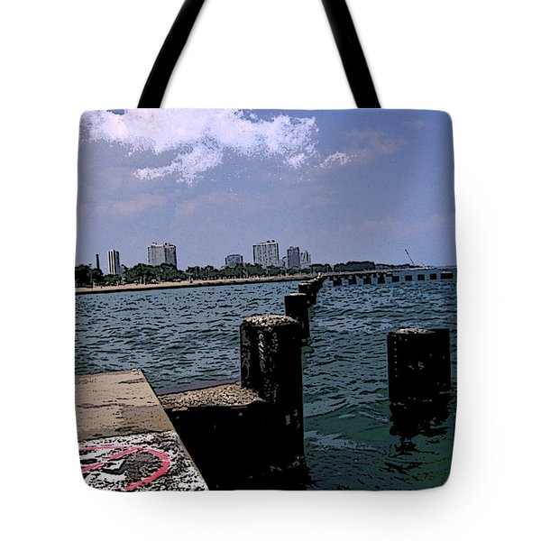Tote Bag featuring the photograph The Pier by Skyler Tipton