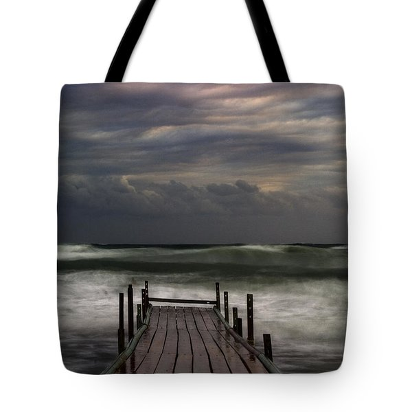 The Pier...ayia Napa Tote Bag by Stelios Kleanthous
