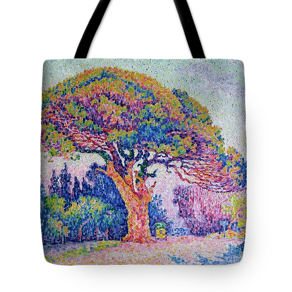 The Pine Tree At Saint Tropez Tote Bag