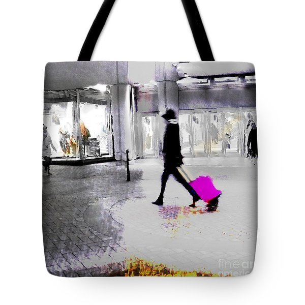 Tote Bag featuring the photograph The Pink Bag by LemonArt Photography