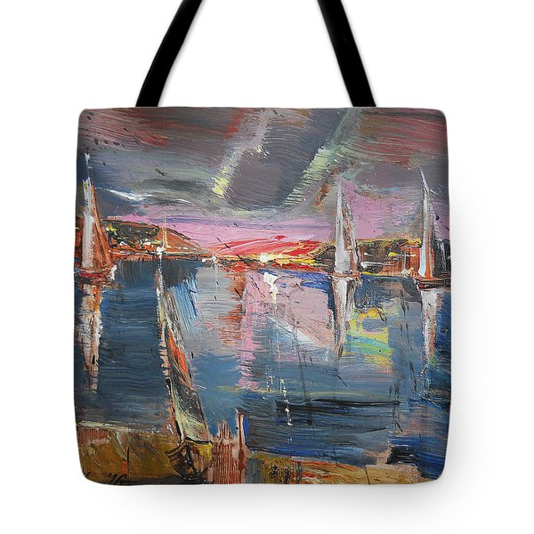 The Pink Bay Tote Bag