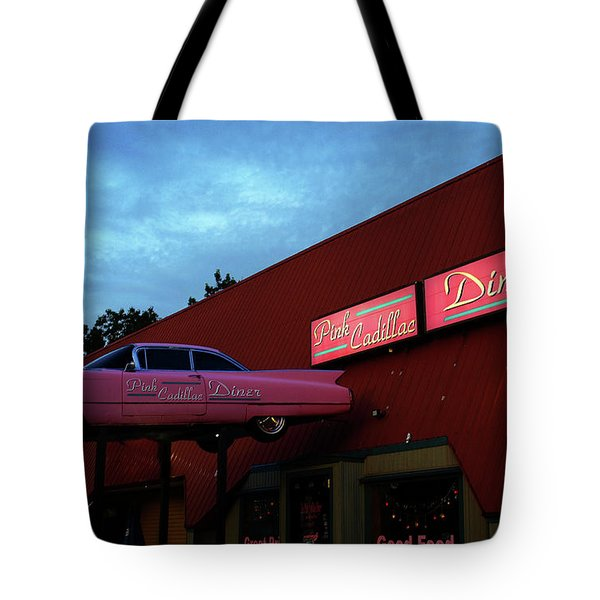 The Pink Cadillac Diner Tote Bag