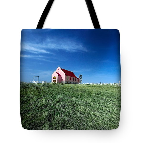 The Pink Church Tote Bag