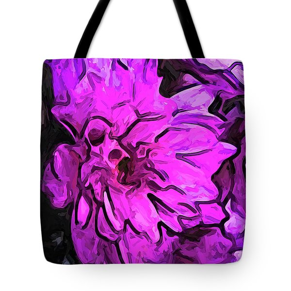 The Pink Flower With The Lavender Edges Tote Bag