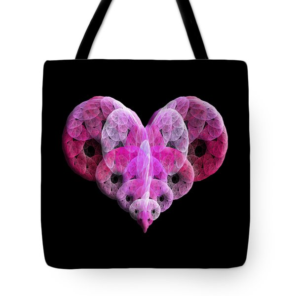 Tote Bag featuring the digital art The Pink Heart by Andee Design