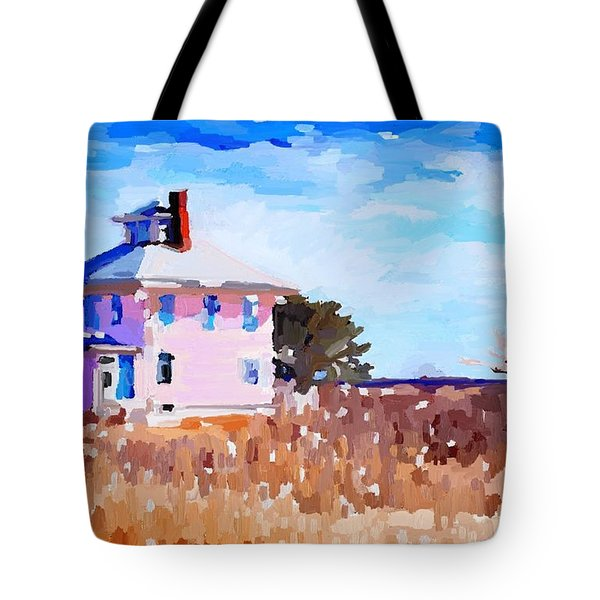 The Pink House, Newburyport, Ma. Tote Bag
