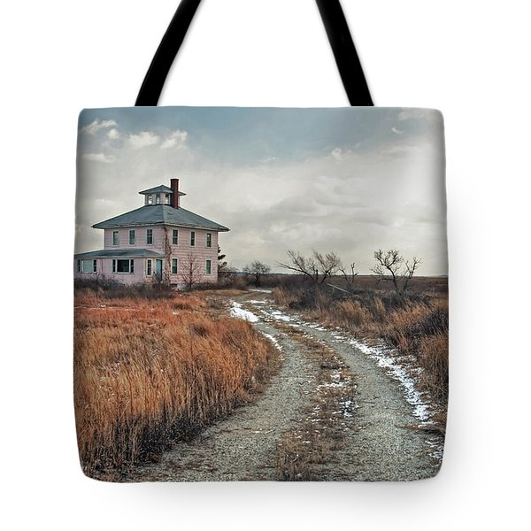 Tote Bag featuring the photograph The Pink House by Wayne Marshall Chase