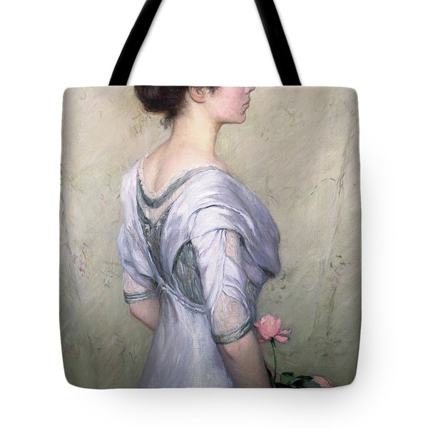 The Pink Rose Tote Bag by Lilla Cabot Perry