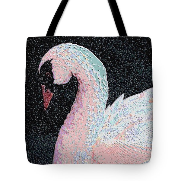 The Pink Swan Tote Bag by Rosalie Scanlon