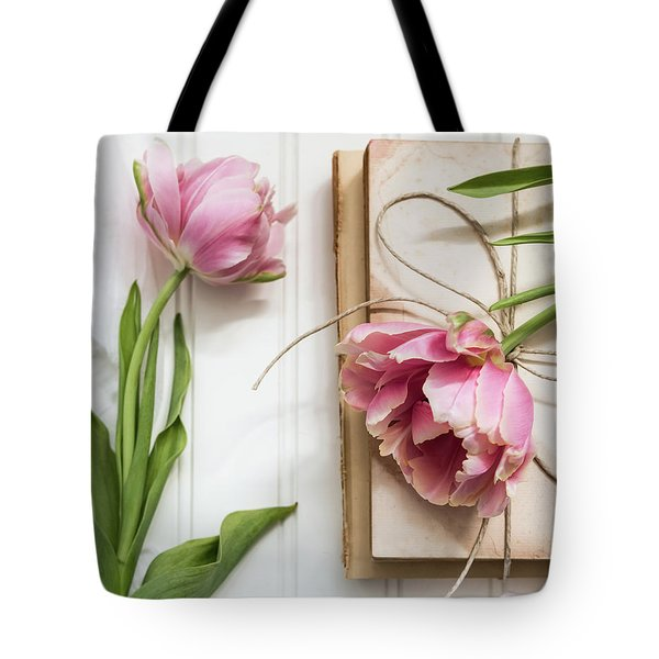 Tote Bag featuring the photograph The Pink Tulips by Kim Hojnacki