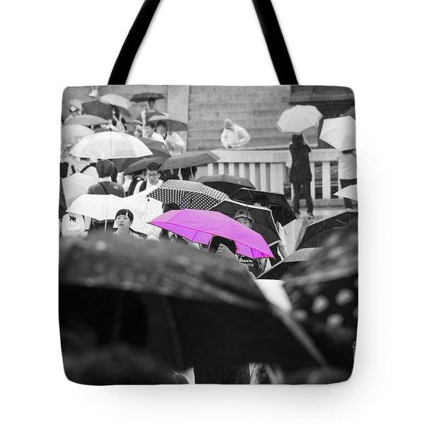 The Pink Umbrella Tote Bag
