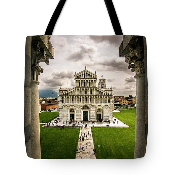 The Pisa Cathedral From The Bapistry Tote Bag