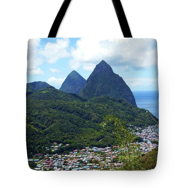 Tote Bag featuring the photograph The Pitons, St. Lucia by Kurt Van Wagner