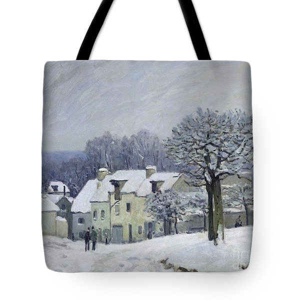 The Place Du Chenil At Marly Le Roi Tote Bag by Alfred Sisley