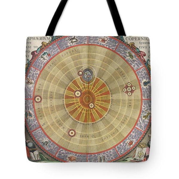 The Planisphere Of Copernicus Harmonia Tote Bag by Science Source