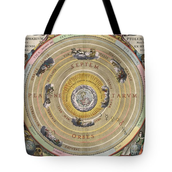 The Planisphere Of Ptolemy, Harmonia Tote Bag by Science Source