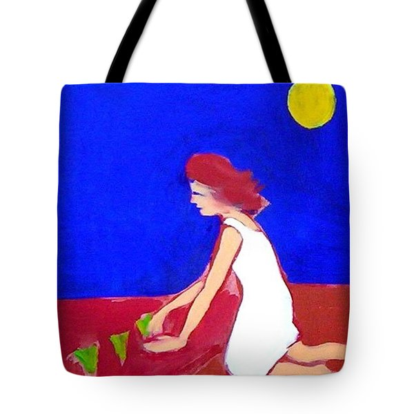 Tote Bag featuring the painting The Planting by Winsome Gunning