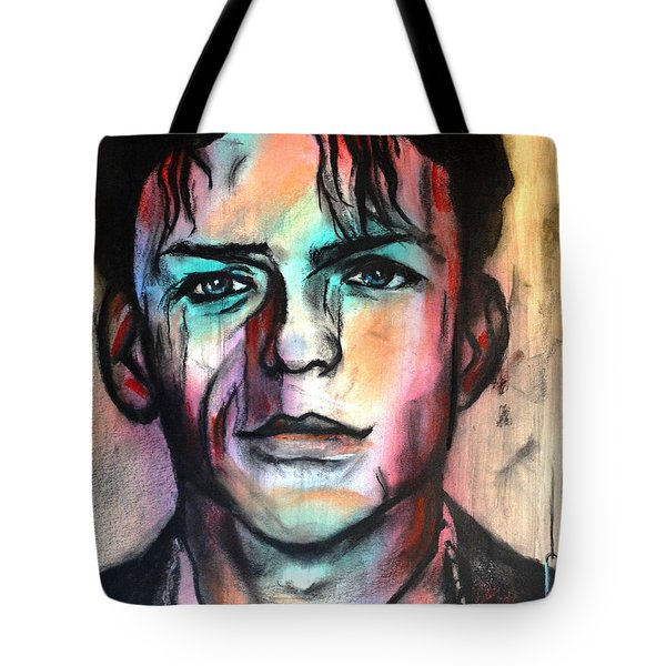 Tote Bag featuring the pastel The Player by Eric Dee