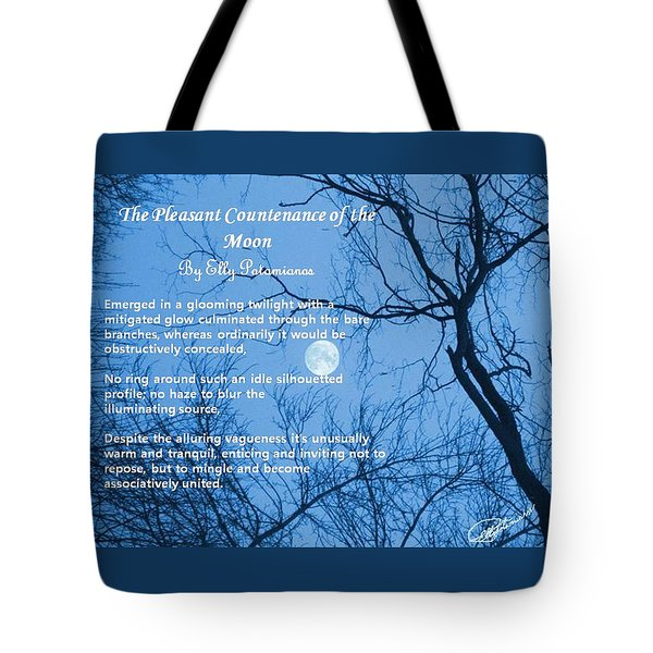 The Pleasant Countenance Of The Moon Tote Bag