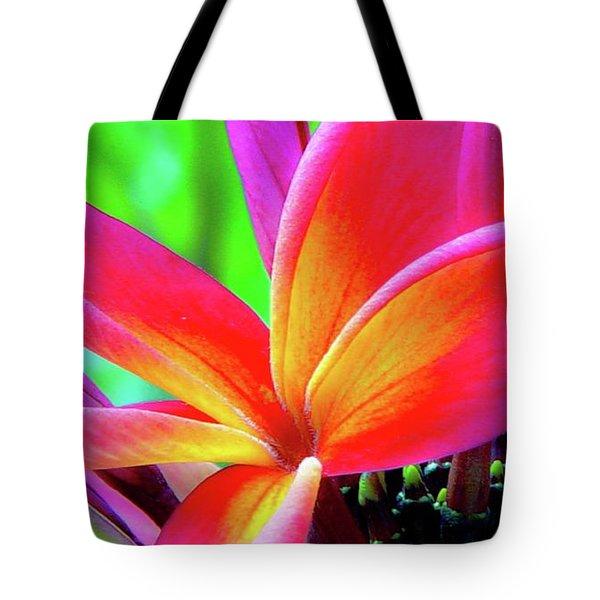 The Plumeria Flower Tote Bag