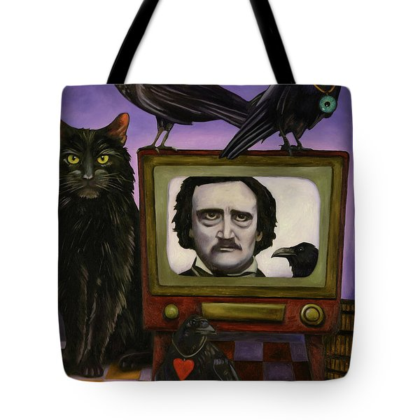 The Poe Show Tote Bag by Leah Saulnier The Painting Maniac