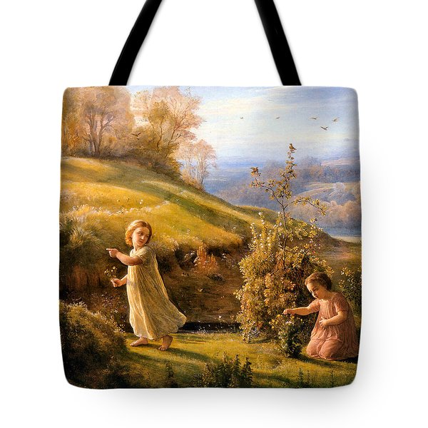 The Poem Of The Soul Spring Anne Francois Louis Janmot 1854. Tote Bag