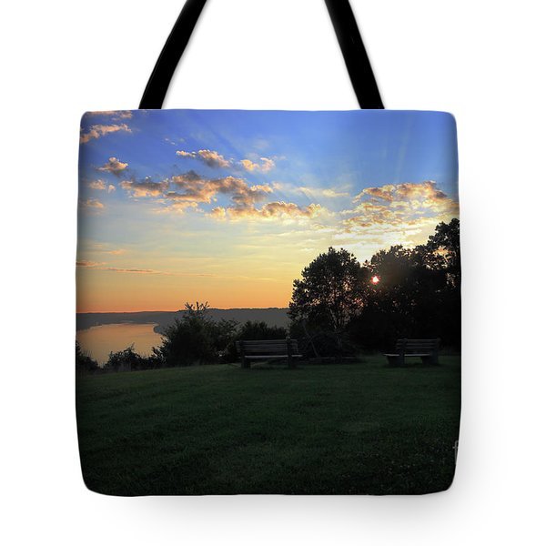 The Point At Sunrise Tote Bag