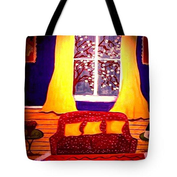 The Polka Dot Sofa Tote Bag