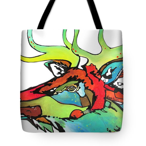 Tote Bag featuring the painting The Polka by Nicole Gaitan