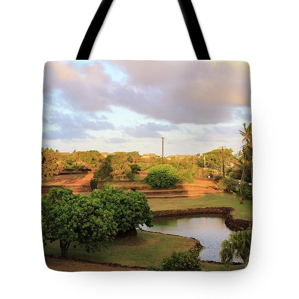 The Pond At Prince Kuhio Park Tote Bag by Bonnie Follett