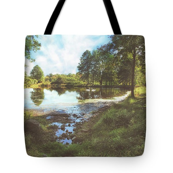The Pond At Sourland Tote Bag