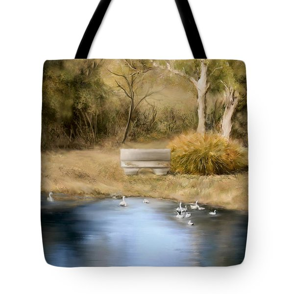 The Pond Tote Bag by Bonnie Willis