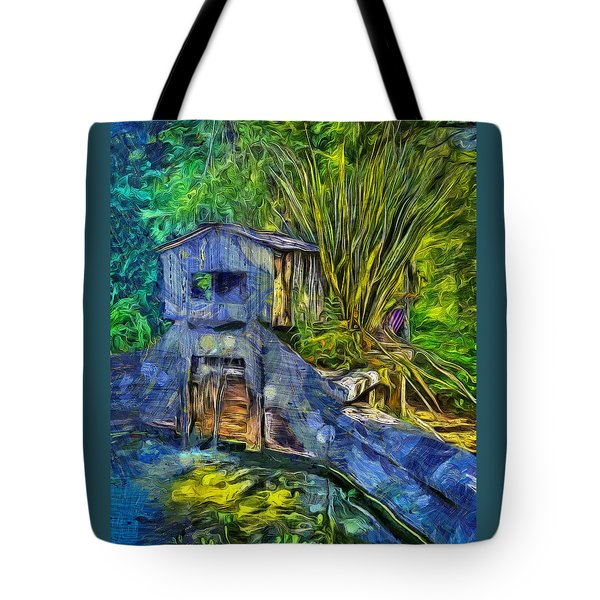 Tote Bag featuring the photograph Blakes Pond House by Thom Zehrfeld